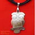 OWL Handmade Natural Shell Pendant Necklace