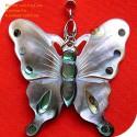 Schmetterling handgemachte natürliche Abalone Anhänger Halskette