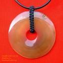 絶妙な手作り有機ホーン ペンダント ネックレス