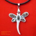 DRAGONFLY Handmade Natural Shell Pendant Necklace