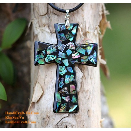CROSS Handmade Natural Abalone Pendant Necklace