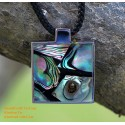 Exquisite Handmade Natural Abalone & Stainless Steel Pendant Necklace