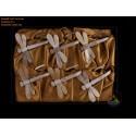 Brocade ボックス コンボ ナプキン: 6 ドラゴン フライ ナプキンの大理石の牛角