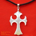 Handgemachte Mutter der Perle Anhänger Halskette Kreuz