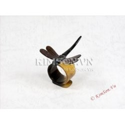 Black Dragon-fly made of marble black buffalo horn.
