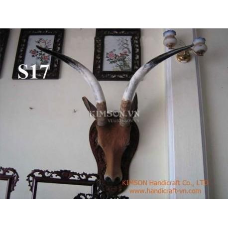 Full Pair Supper Buffalo Horn for Black Powder Holder