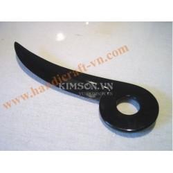 Письмо нож изготовлен из буйвола черного рога