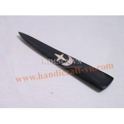 Письмо нож черный с серебряными звездами