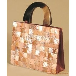 Mother of Pearl Taupe Bag + Handle Horn