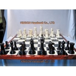 "3"" Premium Chess and chessboard old style (1850 Style)"