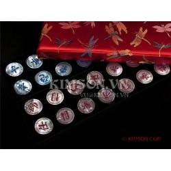 Standard Chinese Chess (Xiangqi) Engrave Texture on AAA Mother Of Pearl Quality (No Gameboard)