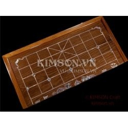 Chinese Chess Gameboard made from rosewood and inlay AAA mother of pearl