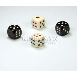Dice made of water buffalo white bone (1 Piece)