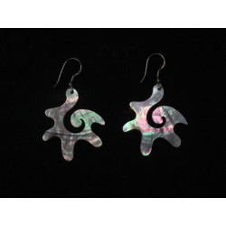 "Earrings ""flower"" black mother-of-pearl"