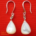 Exquisite Handmade Organic Mother of Pearl - Silver - Earrings