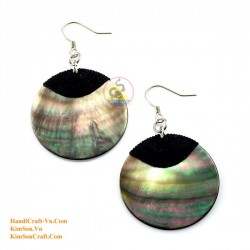 Organic Mother of Pearl - Circle - Earrings