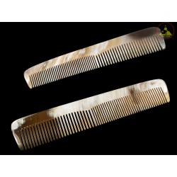 Real Horn Comb - Double Style Of Tooth - 20 x 4 cm -7.87 x 1.57 Inch