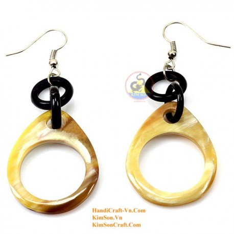 Organic Cow Horn - Earrings