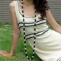 Natural circle horn necklace - Model 0006