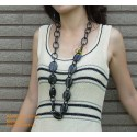 Natural circle horn necklace - Model 0007