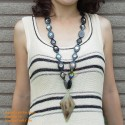 Natural circle horn necklace - Model 0008