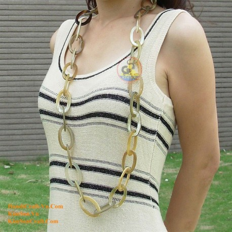 Natural circle horn necklace - Model 0011