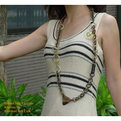 Natural circle horn necklace - Model 0012