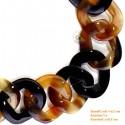 Природный круг рог ожерелье - Модель 0018